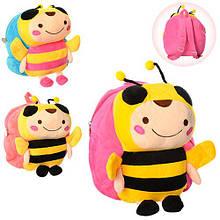 Рюкзак дитячий плюшевий Бджілка для дитячого садка арт.MP 1489
