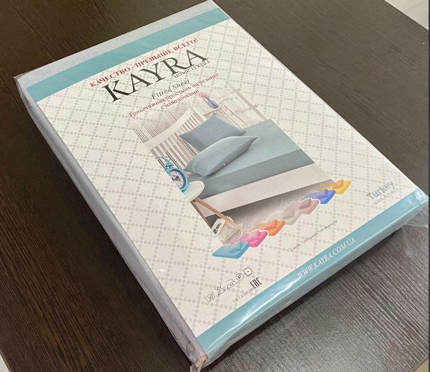 Простынь на резинке трикотажная 160×200 с наволочками 50х70 разные цвета Турция Kayra