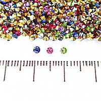 Камушки стразы разноцветные ассорти #14 d-3,5мм уп.\10гр(+-) купить оптом в интернет магазине