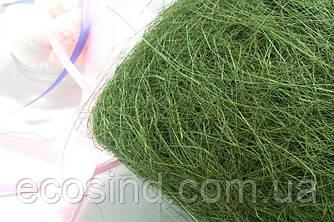 Сизаль натуральна (волокна сизалю) 100грам Колір - ТРАВ'ЯНИЙ (сп7нг-5071)