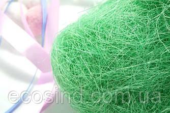 Сизаль натуральна (волокна сизалю) 100грам Колір - М'ЯТНИЙ (сп7нг-5065)