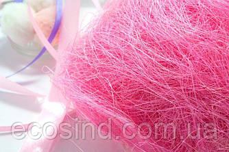 Сизаль натуральна (волокна сизалю) 100грам Колір - РОЖЕВИЙ (сп7нг-5067)