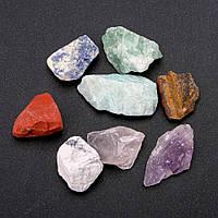 Натуральный сувенирный камень необработанный ассорти галтовка 27х33мм( +-) фасовка 100грамм купить оптом в