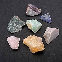 Натуральный сувенирный камень необработанный ассорти галтовка 29х46мм( +-) фасовка 100грамм купить оптом в