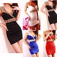 Молодежное женское платье (разные цвета 42-48)