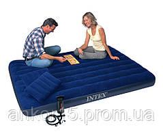 Надувной матрас Intex + 2 подушки + насос