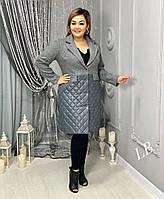 Пальто жіноче Комбіноване кашемір +плащівка