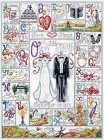 """Набор для вышивания крестом """"Wedding ABC (Алфавит новобрачных)"""""""