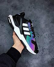 Мужские Кроссовки Adidas EQT Black White Reflective адидас эквипмент