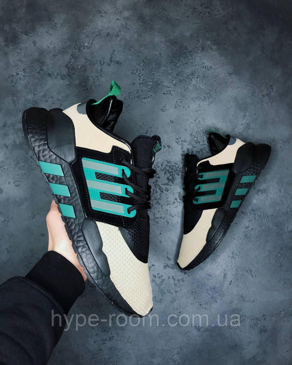 Мужские Кроссовки Adidas EQT Support Black Yellow адидас эквипмент