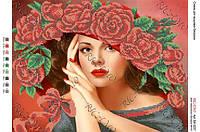 Схема для вышивки бисером Шляпка из роз