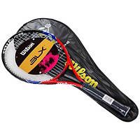 Ракетка для большого тенниса Wilson красная, длина 25 дюймов