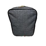 Сумка мужская через плечо темно-серый 098В, фото 5