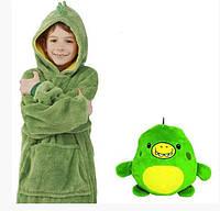 Дитяча іграшка-толстовка плед трансформер з капюшоном і рукавами 3 в 1 Huggle Pets Hoodie