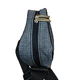 Сумка мужская через плечо темно-серый 098В, фото 2