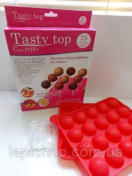 Силиконовая форма для выпечки конфет с палочками Tasty Top Cake Pops