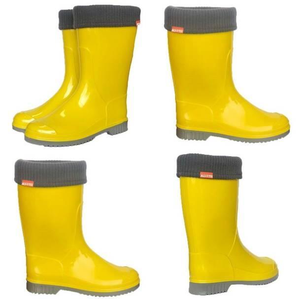 Жовті підліткові гумові чоботи, Alisa line фото