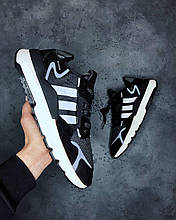 Мужские Кроссовки Adidas Nite Jogger Black White адидас найт джоггер