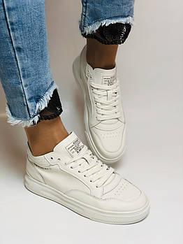 Farinni.Стильные женские кеды-кроссовки белые.Натуральная кожа. Размер 37.38.39.40 Vellena