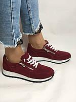 Жіночі кеди - кросівки. Натуральна замша. Розмір 37,38,39, фото 2