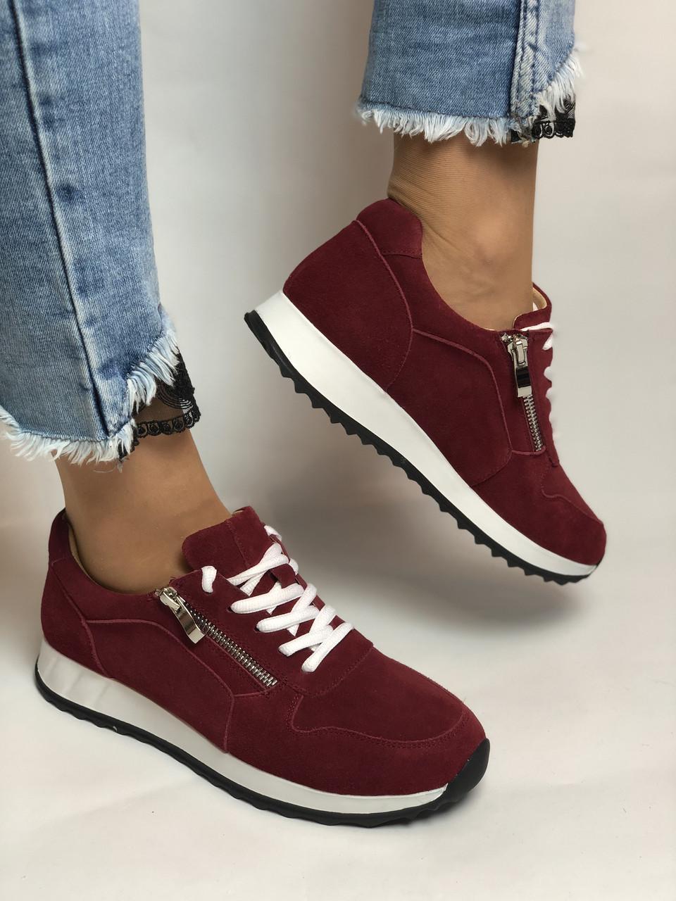 Жіночі кеди - кросівки. Натуральна замша. Розмір 37,38,39