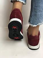 Жіночі кеди - кросівки. Натуральна замша. Розмір 37,38,39, фото 7