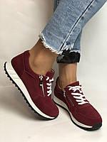 Жіночі кеди - кросівки. Натуральна замша. Розмір 37,38,39, фото 10