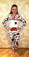 Буренка ,теплая пижама,фланель