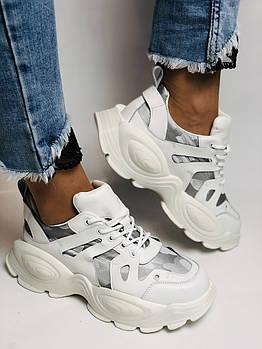 Женские кроссовки из натуральной кожи плюс текстиль. Размер 36.37.38.39.40
