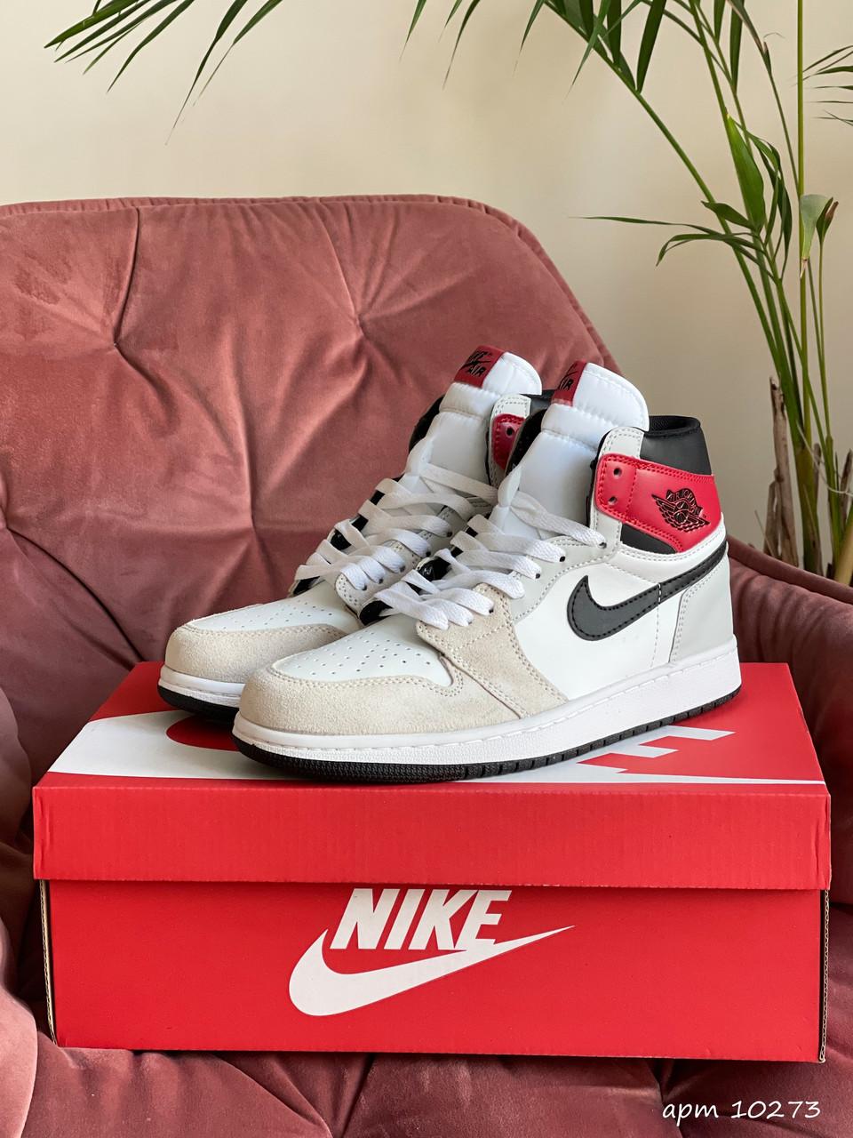 Баскетбольні кросівки Nike Air Jordan, бежеві / кросівки Найк аїр джордан (Топ репліка ААА+)