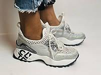 Женские кроссовки  из натуральной кожи с текстилем,черные. Плотный текстиль. Размер 36.37, 39, фото 4