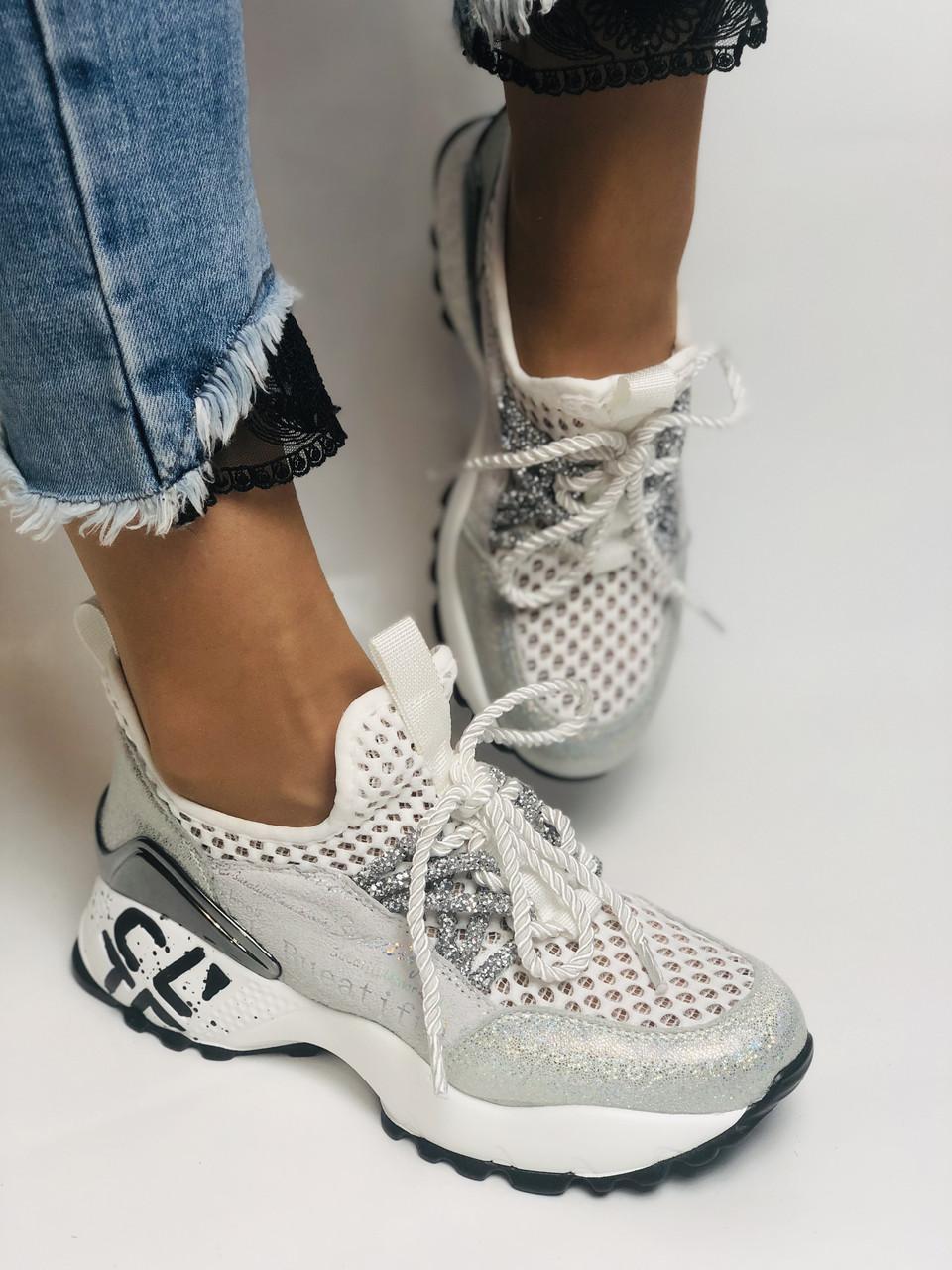 Женские кроссовки  из натуральной кожи с текстилем,черные. Плотный текстиль. Размер 36.37, 39