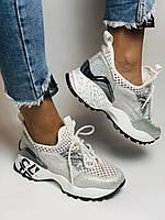 Жіночі кросівки з натуральної шкіри з текстилем.Щільний текстиль. Розмір .37, 39, фото 2