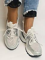 Жіночі кросівки з натуральної шкіри з текстилем.Щільний текстиль. Розмір .37, 39, фото 7