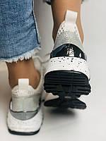 Женские кроссовки  из натуральной кожи с текстилем,черные. Плотный текстиль. Размер 36.37, 39, фото 6