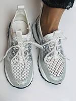 Жіночі кросівки з натуральної шкіри з текстилем.Щільний текстиль. Розмір .37, 39, фото 3