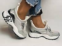 Женские кроссовки  из натуральной кожи с текстилем,черные. Плотный текстиль. Размер 36.37, 39, фото 8