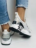 Женские кроссовки  из натуральной кожи с текстилем,черные. Плотный текстиль. Размер 36.37, 39, фото 10