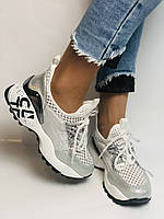 Жіночі кросівки з натуральної шкіри з текстилем.Щільний текстиль. Розмір .37, 39, фото 5