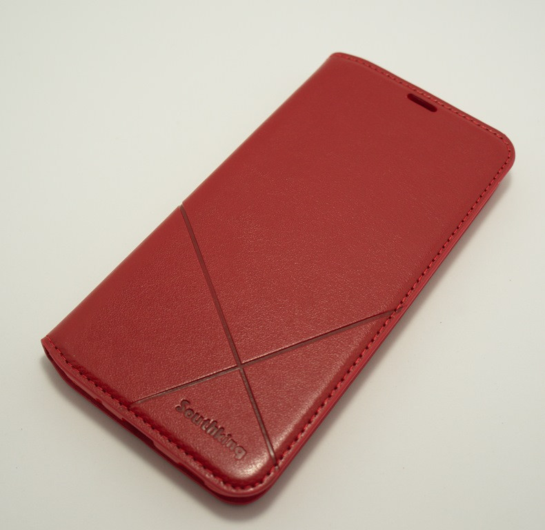 Чехол-книжка MKA Classic Samsung A11 A115 M11 M115 dark red