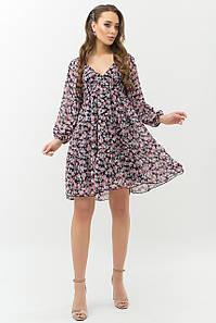 Воздушное шифоновое свободное платье