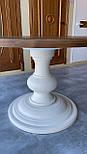 Круглий стіл з великою опорою з масиву дерева, фото 2