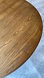 Круглий стіл з великою опорою з масиву дерева, фото 5