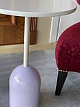 Маленький кавовий столик на одній опорі, фото 2