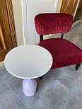 Маленький кавовий столик на одній опорі, фото 4