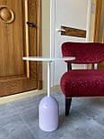 Маленький кавовий столик на одній опорі, фото 5
