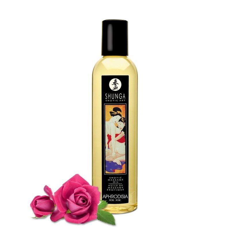 Массажное масло Shunga Aphrodisia - Roses (250 мл) натуральное увлажняющее