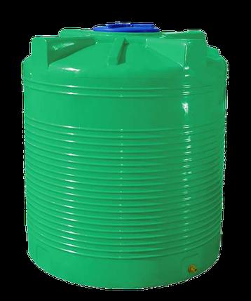Емкость 1500 л вертикальная двухслойная зеленая, фото 2