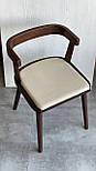 Дизайнерський стілець із натурального дерева, фото 3