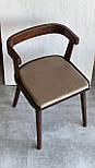 Дизайнерський стілець із натурального дерева, фото 5